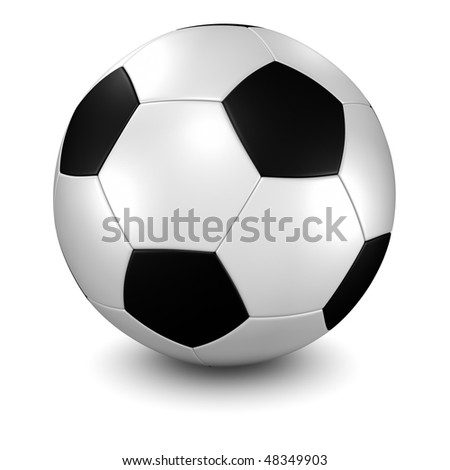 3d render/illustration of a soccer ball - clipping path included