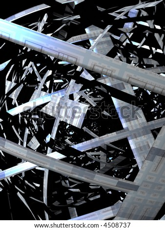 3D render illustration of abstract techno background