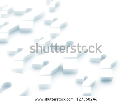 3d render illustration of question mark - stock photo
