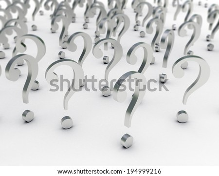 3d render illustration of question marks - stock photo