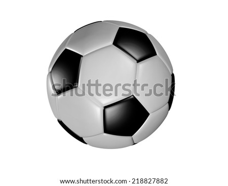 3d render illustration of Soccer Ball with white background - stock photo