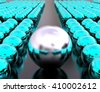 3D render image of group of sphere representing leadership concept / Leadership Concept - stock photo