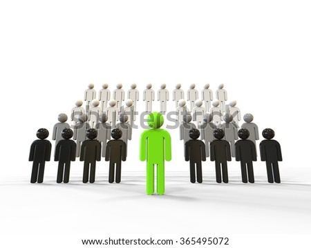 3D render image representing leadership / Leadership Concept  - stock photo