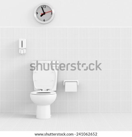 3d render interior of bathroom concept. - stock photo
