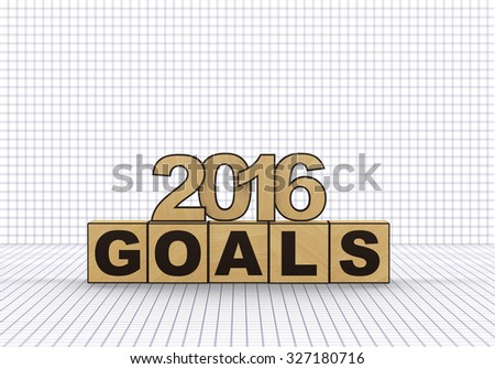 3d render. 2016 new year. - stock photo
