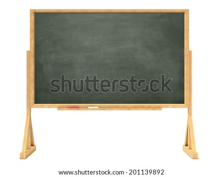 3d render of a blackboard