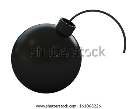 3d render of a bomb isolated over white background - stock photo