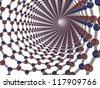 3d render of a boron nitride nanotube - stock photo