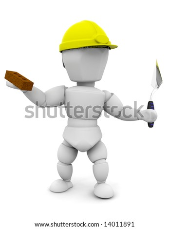 3D render of a builder