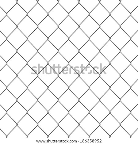 3d render of a chain link fence - stock photo