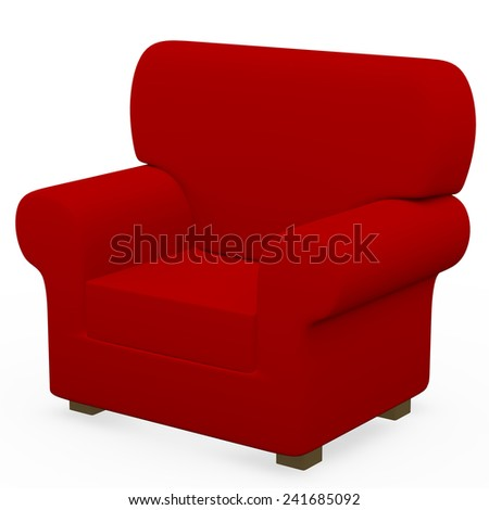 3d Render of a Chair - stock photo