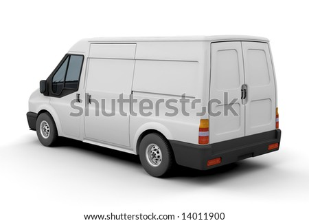3D render of a delivery van