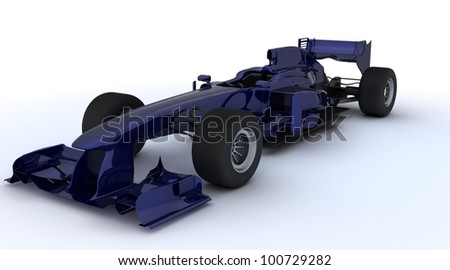 3D render of a Generic open wheeled racing car