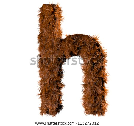 3d render of a hairy h - stock photo