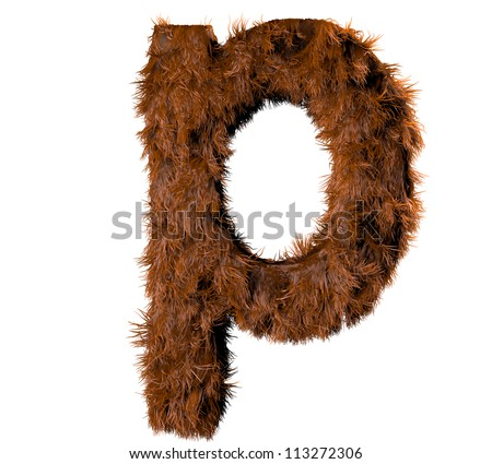 3d render of a hairy p - stock photo