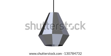 3d render of a modern Cool origami Pendant - stock photo