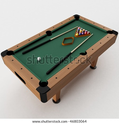3d render of a Pool Table - stock photo
