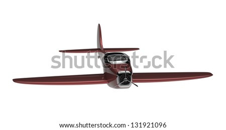 3d render of a propeller plane  isolated on a white background - stock photo