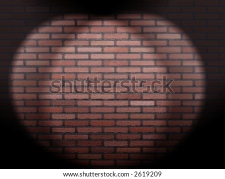 3d render of a red brik wall - stock photo