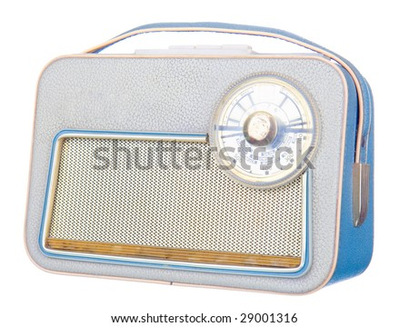 3D render of a retro old  radio - stock photo