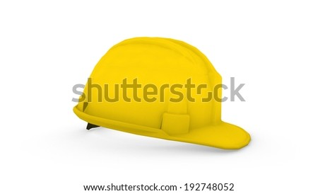 3d render of a safety helmet