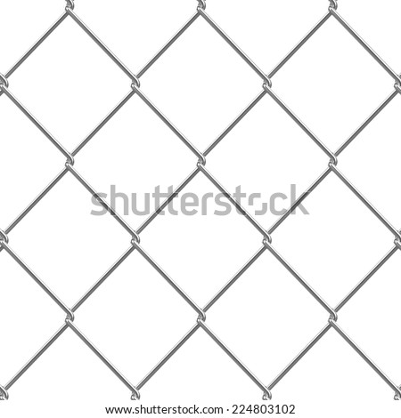 3d render of a section of chain link fence - stock photo