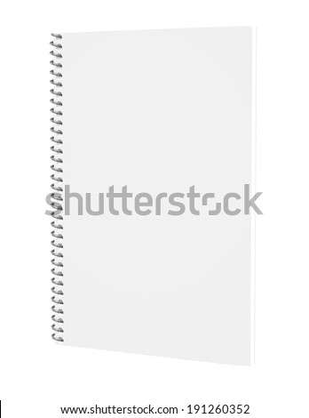 3d Render of a Spiral Notebook