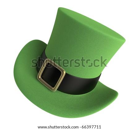 3D render of a St. Patrick's Day Celebration Hat - stock photo