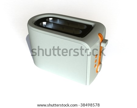 3D render of a toaster