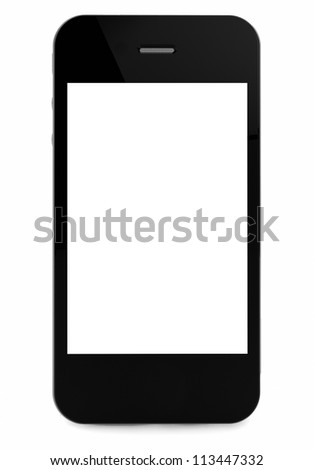 3d render of an smart phone - stock photo
