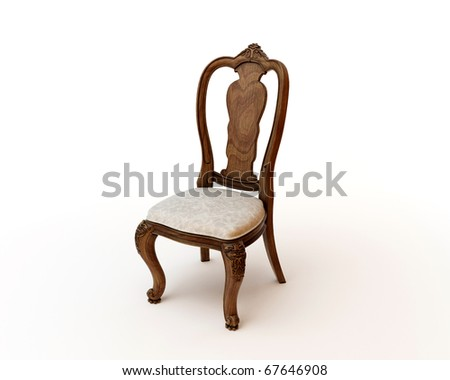 3d render of antique chair