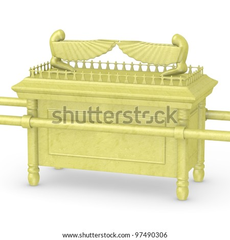 3d render of ark of the covenant - stock photo