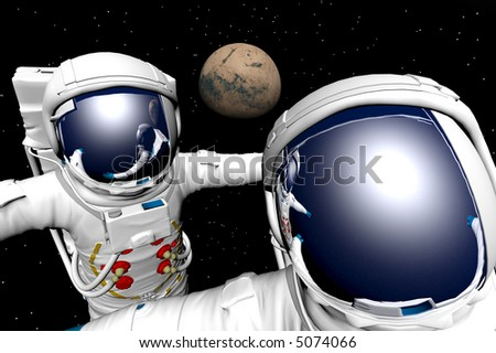 3D render of astronaut