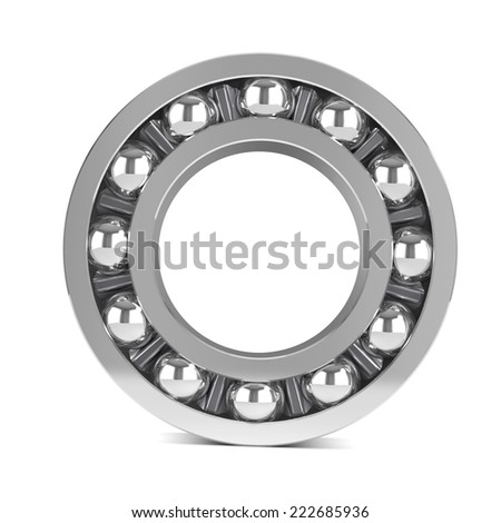 3d render of ball bearings and casings