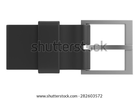 3d render of belt buckle