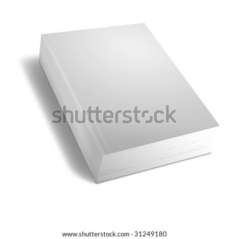 3d render of books on white background
