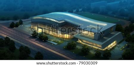 3D render of building - stock photo