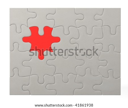 3d render of color puzzle
