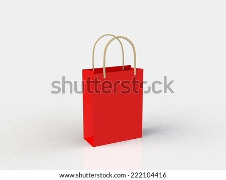 3d render of colorful shopping bag - stock photo