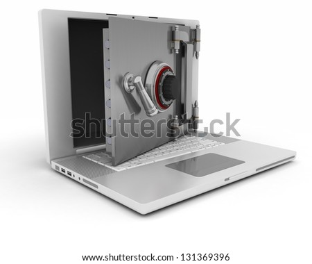 3d render of computer security