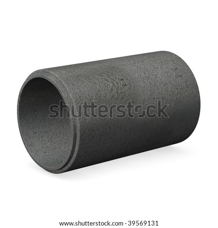 3d render of concrete pipe - stock photo