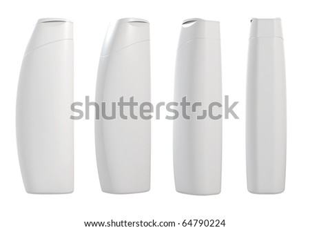 3d render of different views white container templates