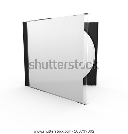 3d render of disc case with clipping path, isolated on white background