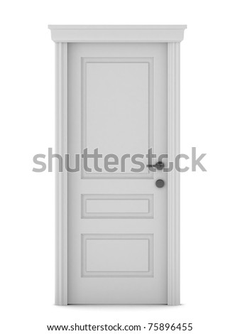 3d render of door