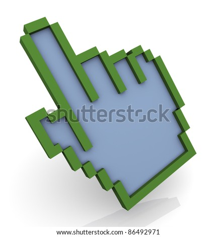 3d render of hand cursor - stock photo
