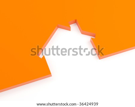 3d Render Of House Concept (Rent Metaphor) More Variations In My Portfolio - stock photo