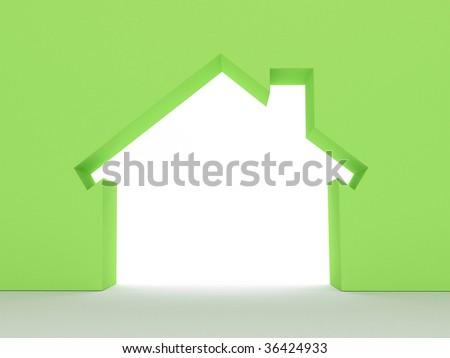 3d Render Of House Eco Concept (Rent Metaphor) More Variations In My Portfolio - stock photo