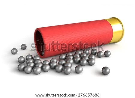3d render of hunting cartridge over white background - stock photo
