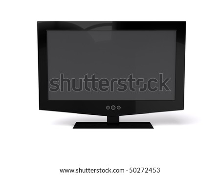3D render of  LCD monitor,isolated