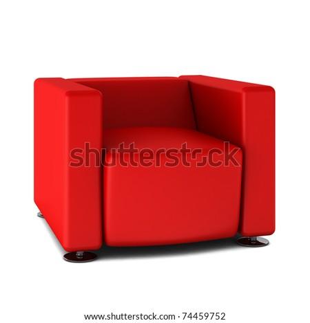 3d render of modern armchair - stock photo